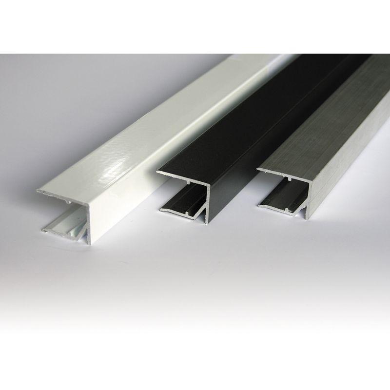 abschlussprofil aluminium f r unteren abschluss von stegplatten. Black Bedroom Furniture Sets. Home Design Ideas