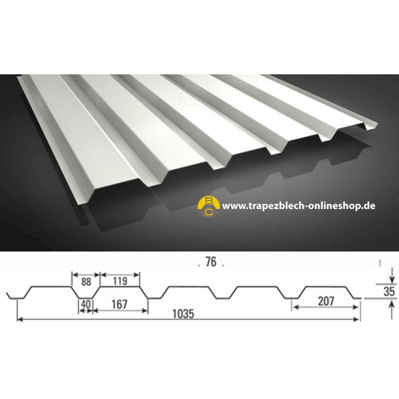 sonderposten trapezblech 35 207 wandprofil 0 50 mm blechst rke. Black Bedroom Furniture Sets. Home Design Ideas