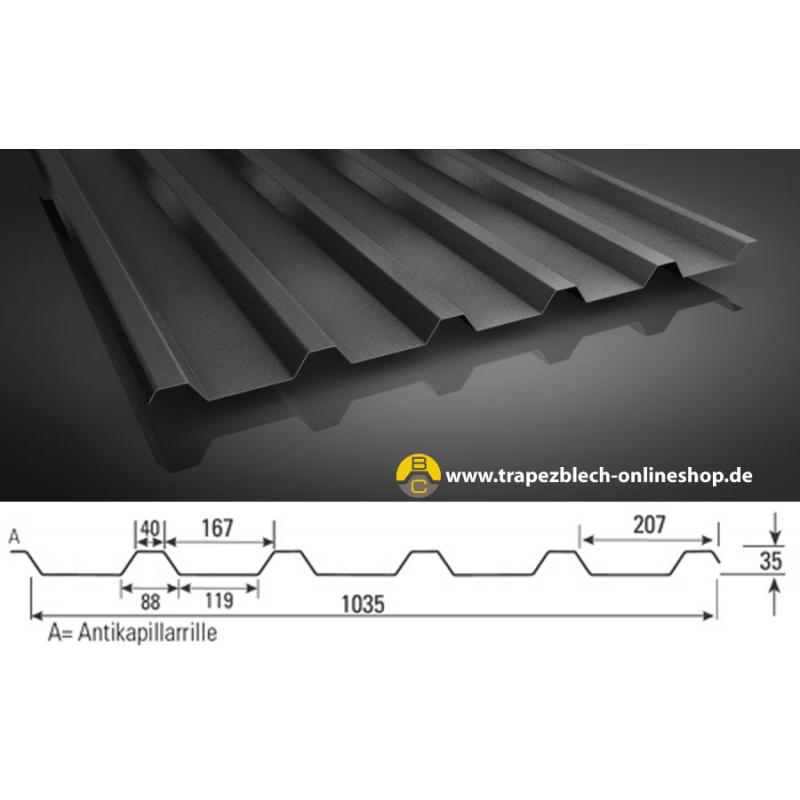 sonderposten trapezblech 35 207 dachprofil 0 50 mm blechst rke. Black Bedroom Furniture Sets. Home Design Ideas