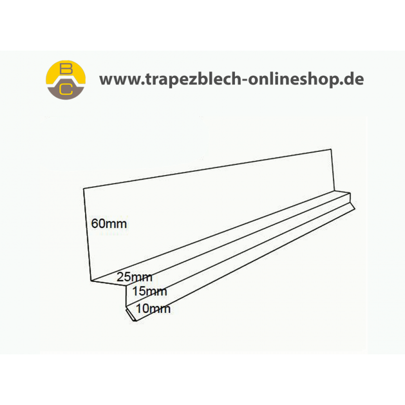 tropfkantenprofil ber t r fenster f r 20 trapez 18 s. Black Bedroom Furniture Sets. Home Design Ideas