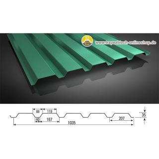 sonderposten trapezblech 35 207 wandprofil 0 40 mm blechst rke. Black Bedroom Furniture Sets. Home Design Ideas