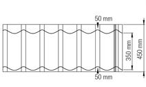 pfannenblech dachpfanne mediteran terrakotta optik 0 50 mm blechst rke ebay. Black Bedroom Furniture Sets. Home Design Ideas