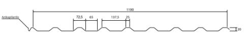 trapezblech profilblech 20 1100 trapezbleche dachprofil 0 4 0 5mm ziegelrot 8004 ebay. Black Bedroom Furniture Sets. Home Design Ideas