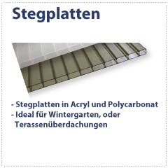 Stegplatten, Doppelstegplatte, Hohlkammerplatte