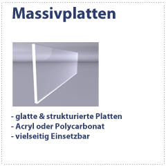 Polycarbonat Acryl Massivplatten