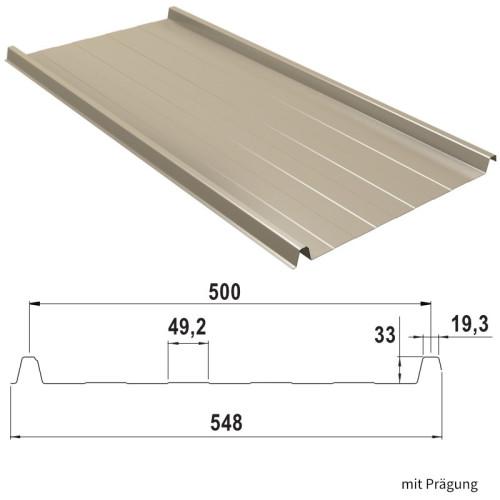 Beschichtung 25 /µm Dachblech Profilblech Material Stahl St/ärke 0,50 mm Trapezblech Farbe Wei/ßaluminium Profil PS35//1035TR