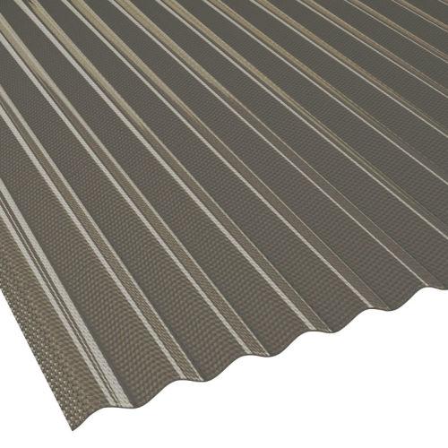 Lichtwellplatte Wellplatte Profil 76//18 Lichtplatte St/ärke 1,2 mm Material PVC Farbe Bronze Breite 900 mm