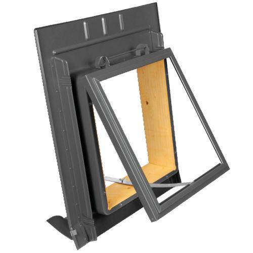 dachfenster dachausstiegsfenster mit metalleindeckrahmen. Black Bedroom Furniture Sets. Home Design Ideas