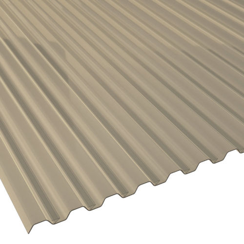 Spundwandplatte Breite 1095 mm Farbe Bronze St/ärke 1,2 mm Lichtplatte Profil 70//18 Material PVC