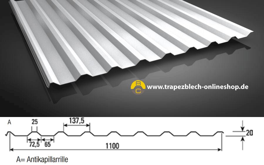 Bevorzugt Aluminium Trapezblech in RAL 9006 wieder lieferbar JC91